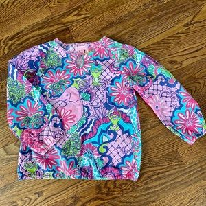 Lilly Pulitzer Girls Vintage Pull Over Blouse